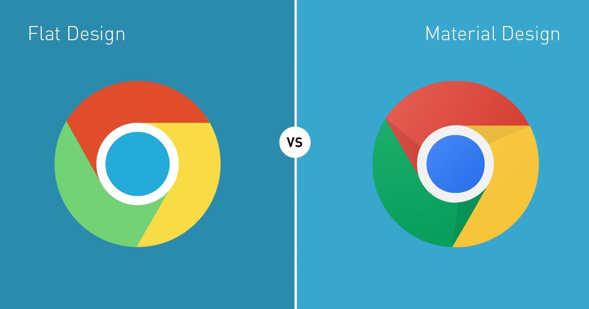 material-design vs flat design